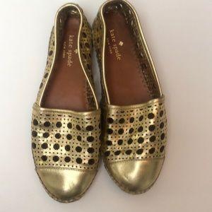 Gold Kate Spade Espadrilles